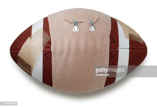 american football bandaged up - elastic bandage stock photos and pictures