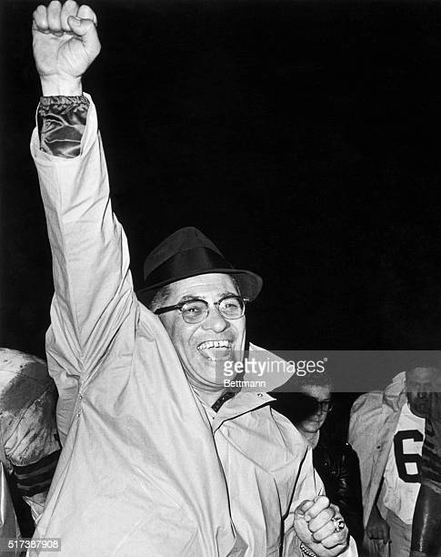 American football coach Vince Lombardi Undated photograph