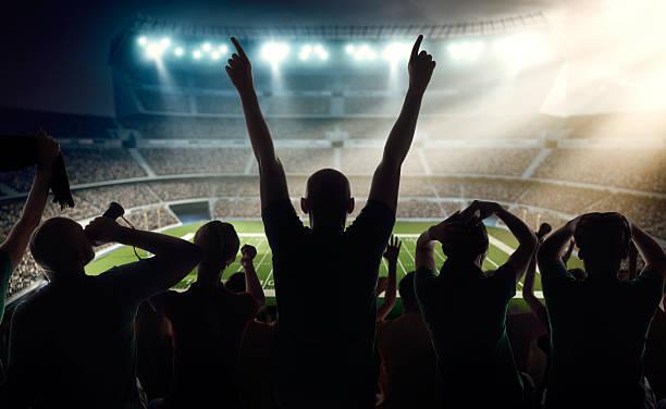 American Football Fans At Stadium Wall Art