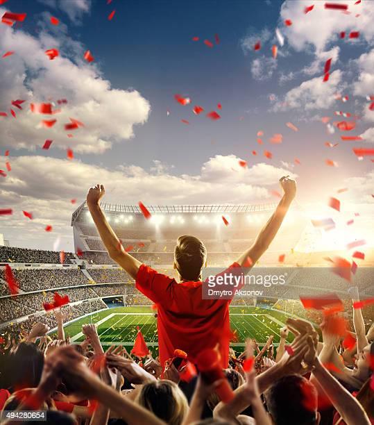 American football-Fan im Stadion