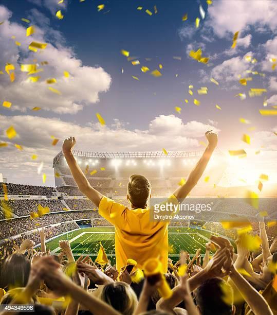 American football fans at stadium