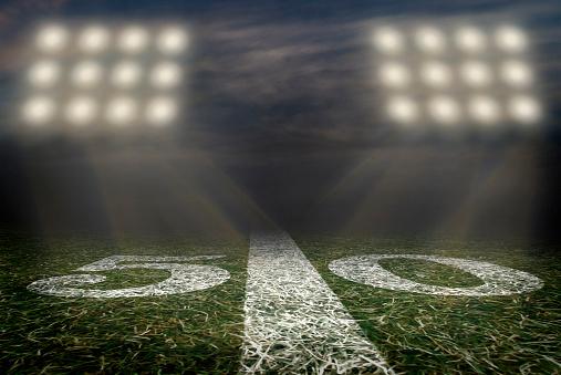 American football field 50 yard line Friday night Lights 1177747716