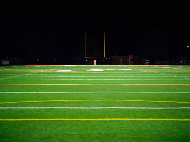 American Football Field At Night Wall Art