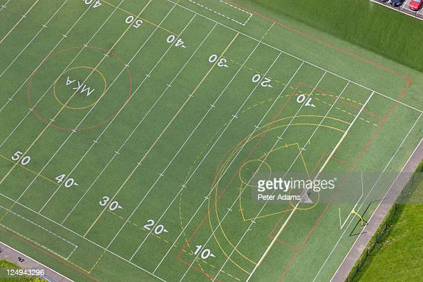 american football field, new york, usa - forty yard line stock pictures, royalty-free photos & images