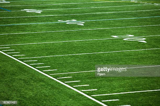 american football field - american football pitch stock pictures, royalty-free photos & images