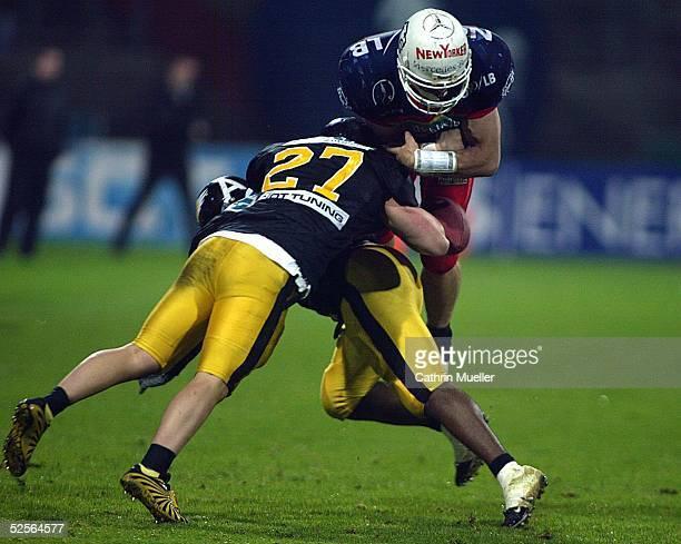 American Football German Bowl 2004 Braunschweig Braunschweig Lions Berlin Adler 710 Cjristoph MALEWSKI / Adler Wallace CLAY / Adler Kim KUCI / Lions...