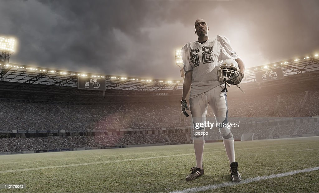 American Football Hero : Stock Photo