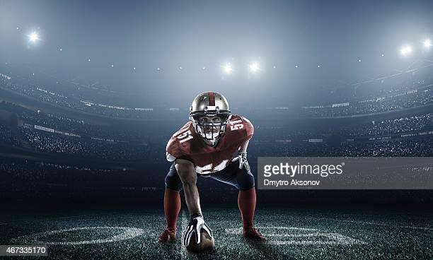 Fútbol americano en acción