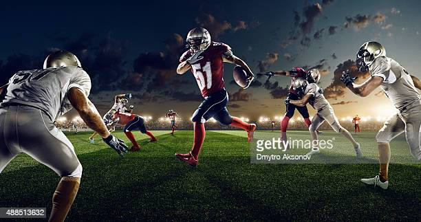 American football in action