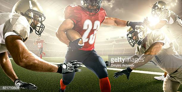 american football in action - line of scrimmage stock pictures, royalty-free photos & images