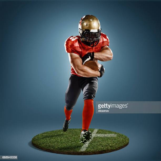 american football in action - defender soccer player stock photos and pictures