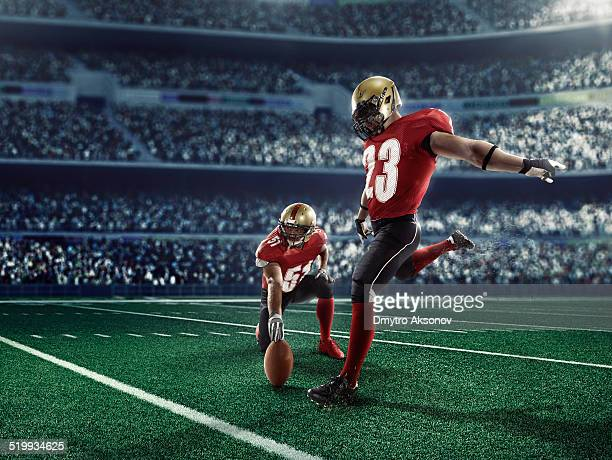 american football kick off - american culture stock pictures, royalty-free photos & images