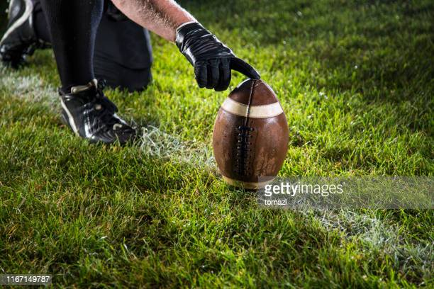 american football kick - kick off stock pictures, royalty-free photos & images