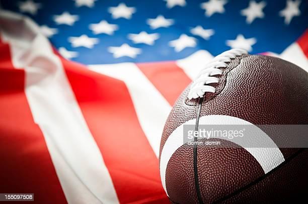 liga de futebol americano, super bowl, bola de rugby, bandeira dos estados unidos da américa - football league imagens e fotografias de stock