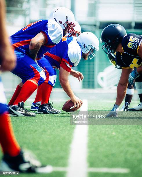 american football line of scrimmage - line of scrimmage stock pictures, royalty-free photos & images