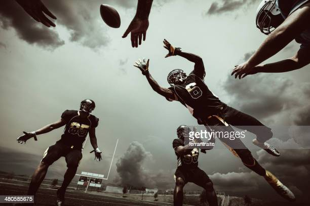 american football match - football league stock pictures, royalty-free photos & images