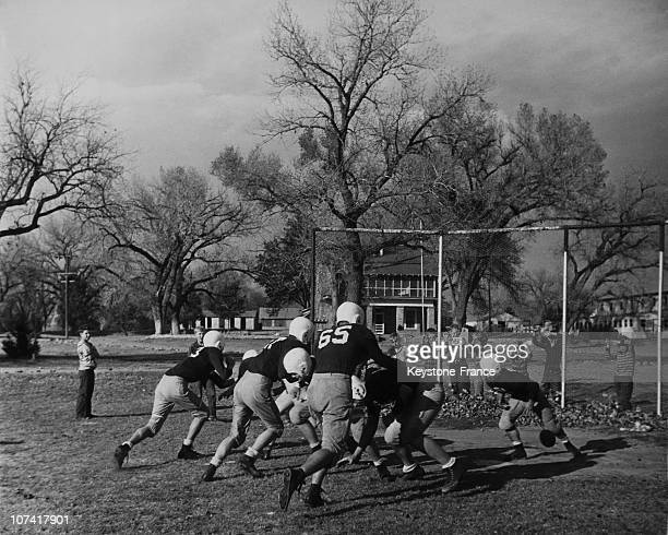 American Football Match Training At Tascosa In Texas During Fifties
