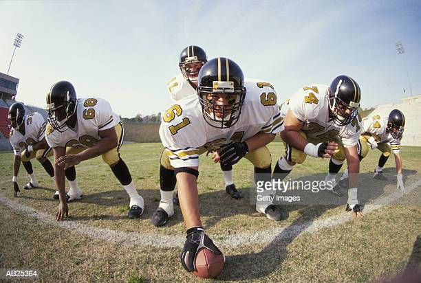 American Football offensive line