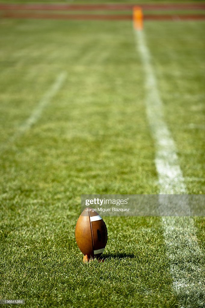 American football on grass : Stock-Foto