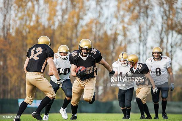 american football. - wide receiver athlete stock photos and pictures