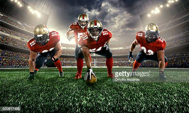 american football - quarterback stock-fotos und bilder