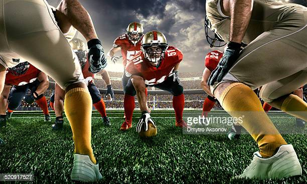 american football - line of scrimmage stock pictures, royalty-free photos & images