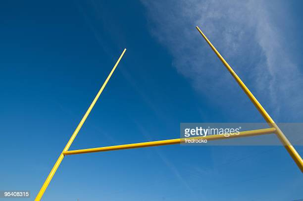 american football - goal post stock photos and pictures