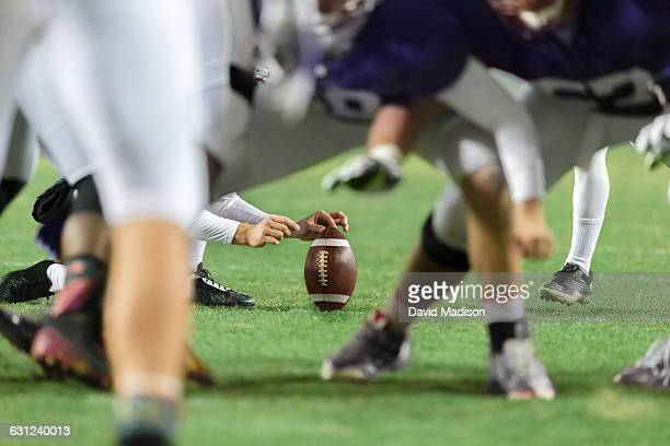 american football place kick - end zone stock pictures, royalty-free photos & images