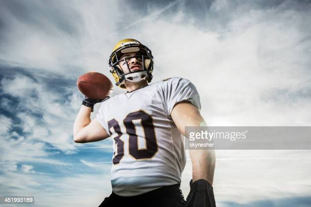 american football player. - quarterback stock photos and pictures