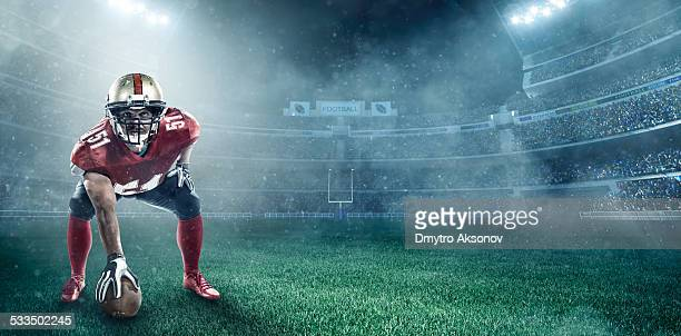 american football player - line of scrimmage stock pictures, royalty-free photos & images