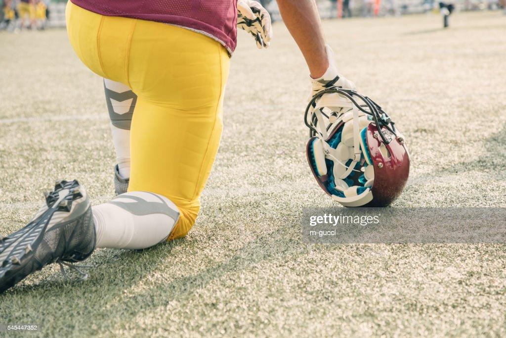 American football player : Stock Photo