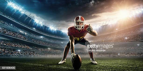 アメリカンフットボール選手スタンド