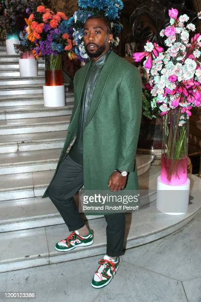 American Football Player Tyrod Taylor attends the Berluti Menswear Fall/Winter 2020-2021 show as part of Paris Fashion Week at Opera Garnier on...
