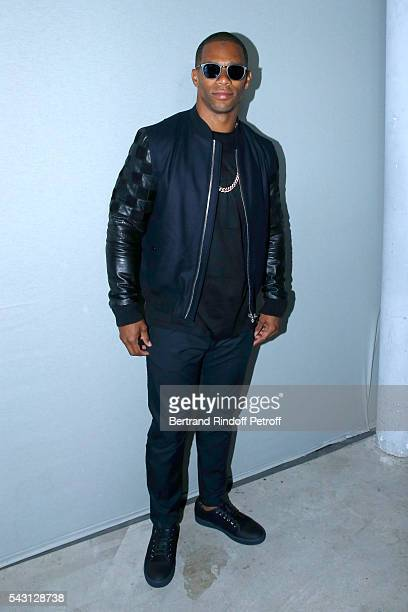 American Football Player Victor Cruz attends the Lanvin Menswear Spring/Summer 2017 show as part of Paris Fashion Week on June 26, 2016 in Paris,...