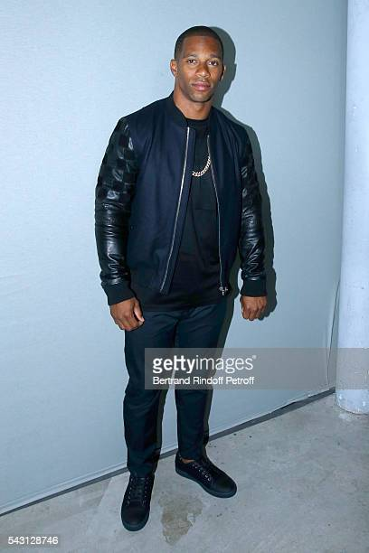 American Football Player Victor Cruz attends the Lanvin Menswear Spring/Summer 2017 show as part of Paris Fashion Week on June 26 2016 in Paris France