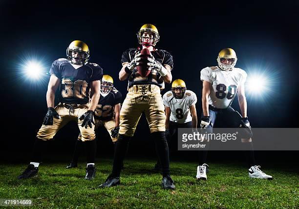アメリカン・フットボールプレーヤーます。