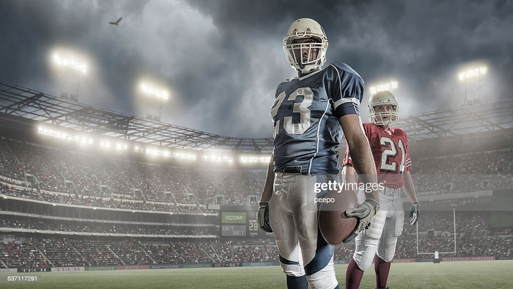 American Football Players : Stock Photo