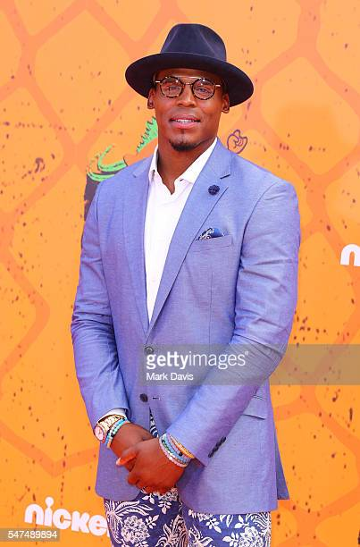 American Football Quarterback Cam Newton attends the Nickelodeon Kids' Choice Sports Awards at UCLA's Pauley Pavilion on July 14 2016 in Westwood...