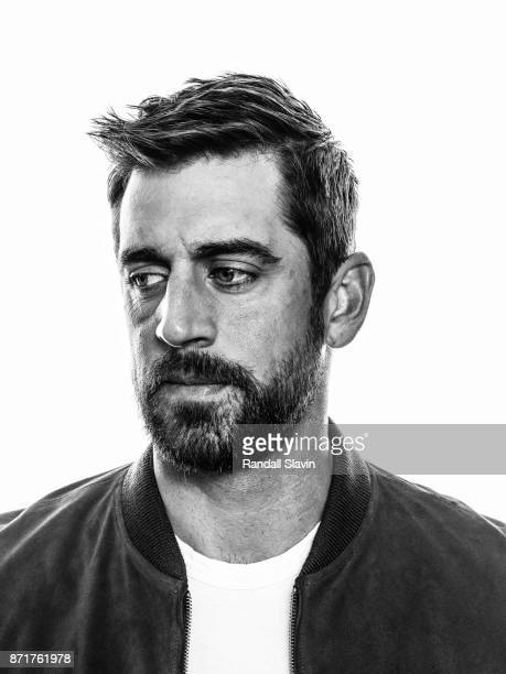 American football quarterback for the Green Bay Packers Aaron Rodgers is photographed for ESPN - The Magazine on July 21, 2017 in Los Angeles,...