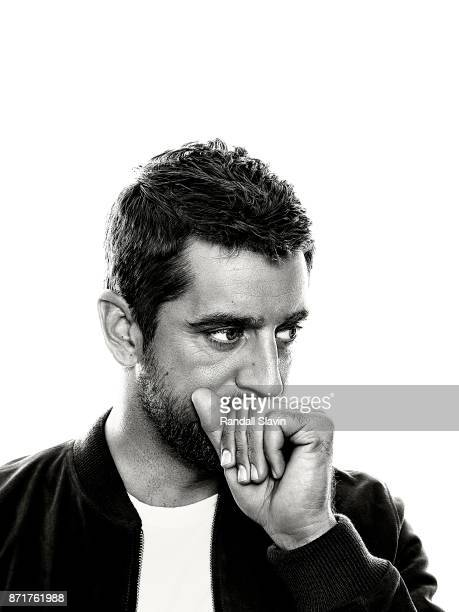 American football quarterback for the Green Bay Packers Aaron Rodgers is photographed for ESPN The Magazine on July 21 2017 in Los Angeles California