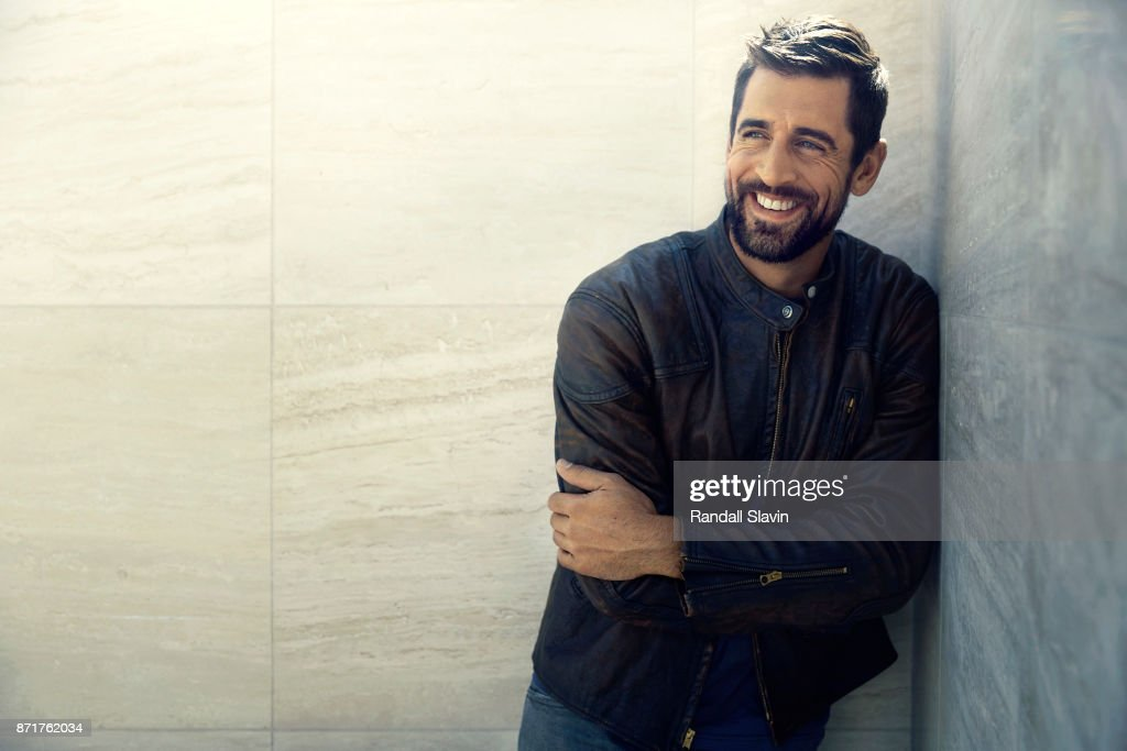 American football quarterback for the Green Bay Packers Aaron Rodgers is photographed for ESPN - The Magazine on July 21, 2017 in Los Angeles, California.