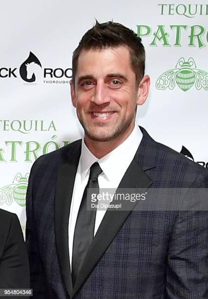 American football quarterback for the Green Bay Packers Aaron Rodgers attends the 8th Annual Fillies Stallions hosted by Patron and Black Rock...