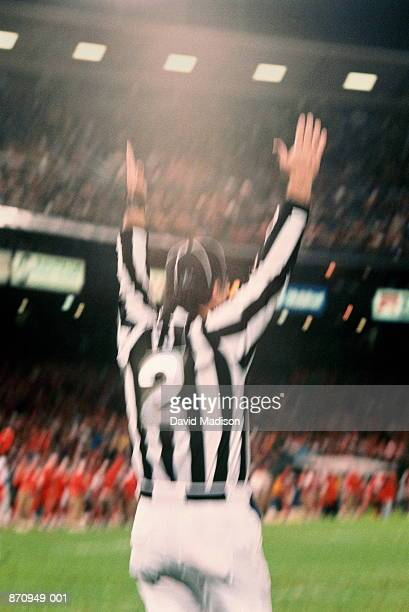 american football referee giving touchdown signal - american football judge stock pictures, royalty-free photos & images
