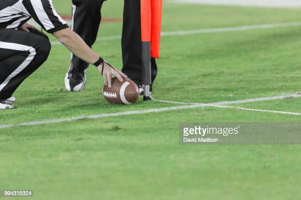 American football referees use chain to measure first down