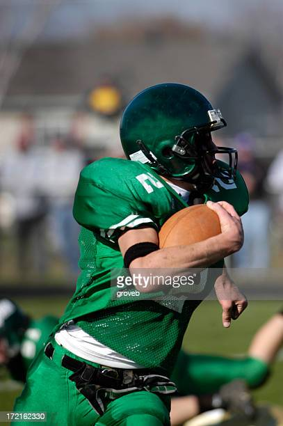 american football - running back - rush american football stock pictures, royalty-free photos & images
