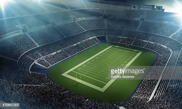 American football stadium full of fans from above