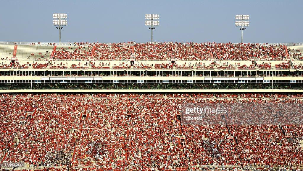 American Football Stadium Full of Spectators : Stock Photo