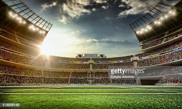 american football stadium - stadion stockfoto's en -beelden