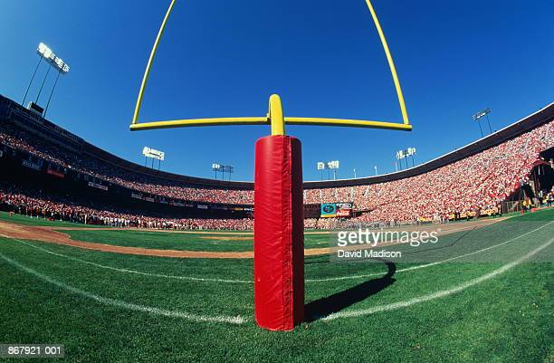 American football stadium, wide angle of goal post