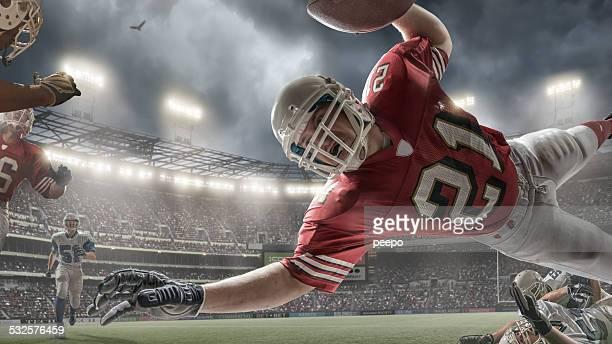 American Football Touchdown Aktion
